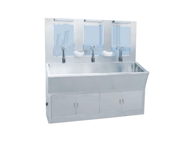 C91 全不锈钢标准感应洗手池(可定做单人、三人)