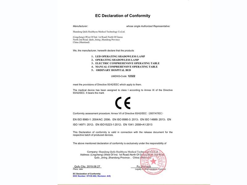 CE自我符合性声明